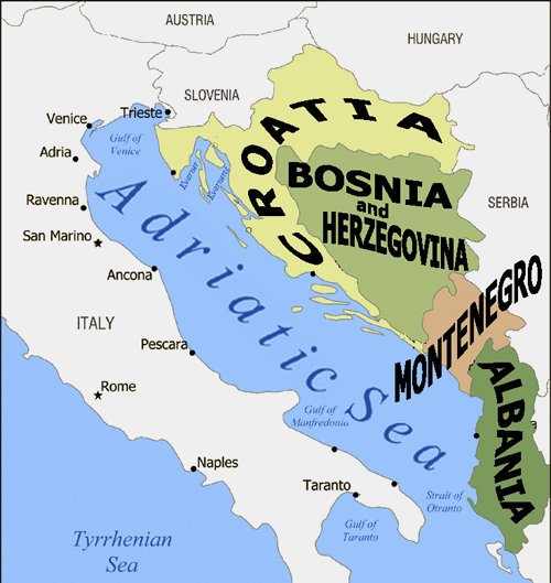 The Gallery For --> World Map Adriatic Sea