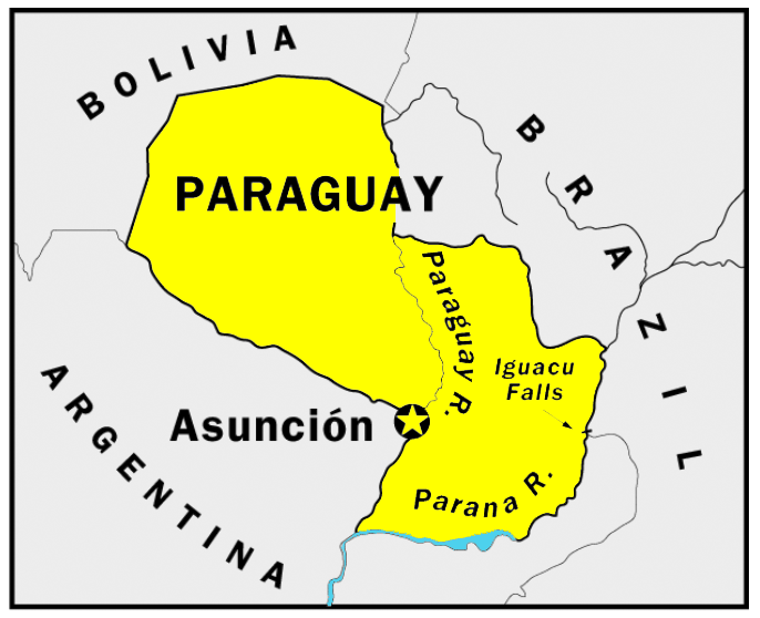 Paraguay South America: South America Map Paraguay At Codeve.org